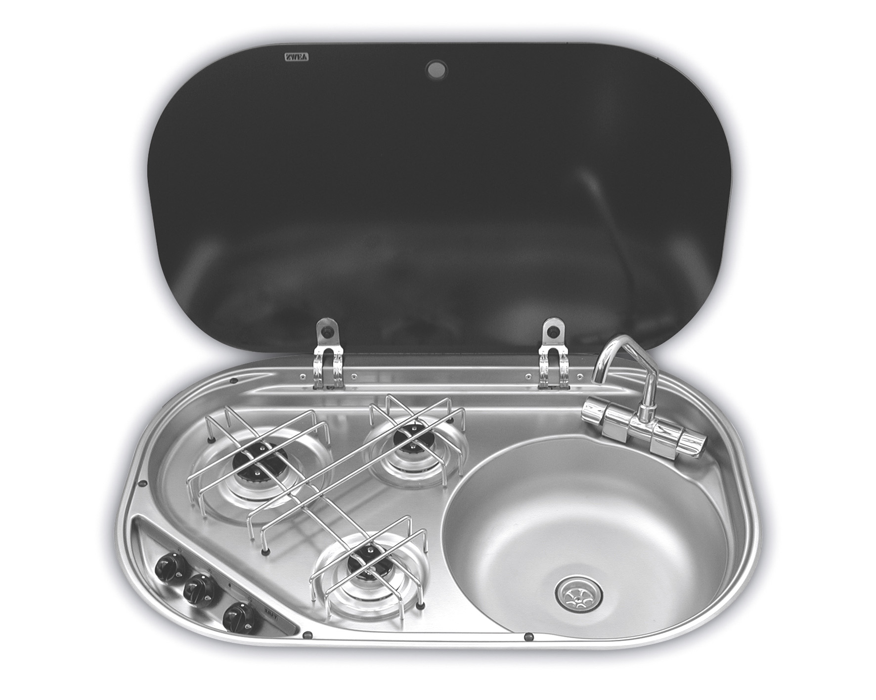 Smev 8323 - 3 Burner Hob & Sink Combination Unit
